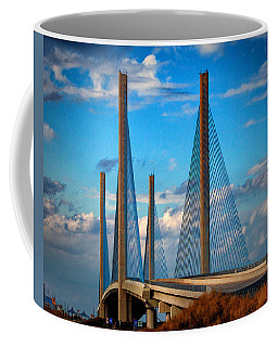 Charles W Cullen Bridge South Approach Coffee Mug