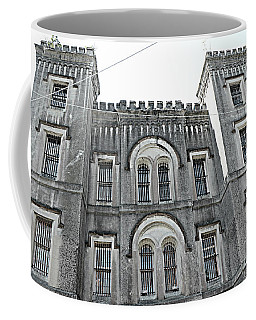 Coffee Mug featuring the photograph Charleston Historical Haunted Old Jail House - Charleston Old Jail Civil War Architecture  by Kathy Fornal