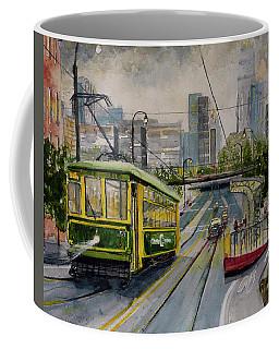 Charlotte Urban Cityscape And Streetcar  Coffee Mug