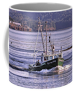 Coffee Mug featuring the photograph Charming Lady Leaving Eastport by Marty Saccone