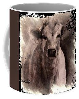 Charolais Cow Graphite Drawing Coffee Mug