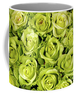 Chartreuse Colored Roses Coffee Mug