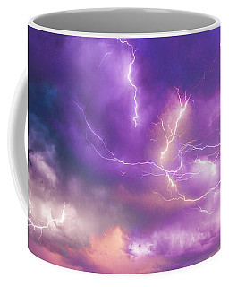 Coffee Mug featuring the photograph Chasing Nebraska Lightning 056 by NebraskaSC