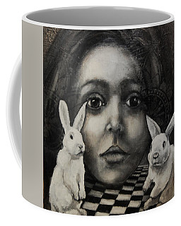 Chasing Rabbits Coffee Mug by Jean Cormier