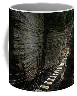 Coffee Mug featuring the photograph Chasm Bridge by Brad Wenskoski