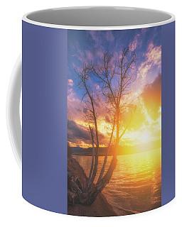 Coffee Mug featuring the photograph Chatfield Lake Sunset by Darren White