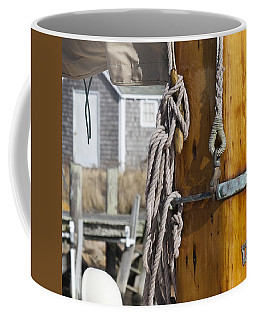 Coffee Mug featuring the photograph Chatham Old Salt by Charles Harden