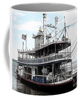 Coffee Mug featuring the photograph Chautauqua Belle Steamboat With Ink Sketch Effect by Rose Santuci-Sofranko