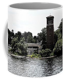 Coffee Mug featuring the photograph Chautauqua Institute Miller Bell Tower 2 With Ink Sketch Effect by Rose Santuci-Sofranko