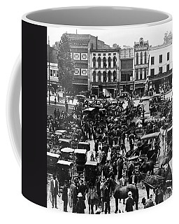 Cheapside Public Square In Lexington - Kentucky - April 7  1920 Coffee Mug by International  Images