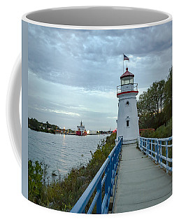 Cheboygan Crib Lighthouse Lake Huron, Lower Peninsula Mi Coffee Mug