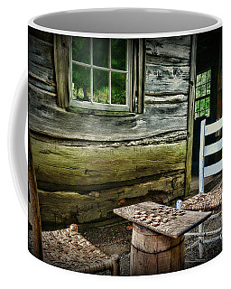 Coffee Mug featuring the photograph Checkers Down At The Old Place. by Paul Ward