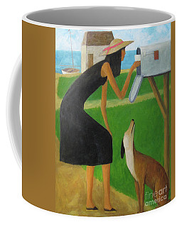 Checking The Box Coffee Mug by Glenn Quist