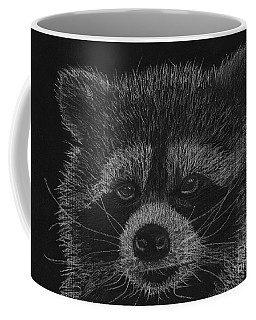 Cheeky Little Guy - Racoon Pastel Drawing Coffee Mug