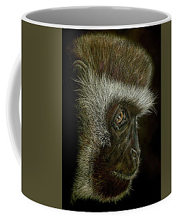 Coffee Mug featuring the drawing Cheeky Monkey by Heidi Kriel