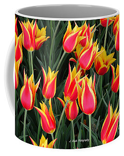 Cheerful Spring Tulips Coffee Mug