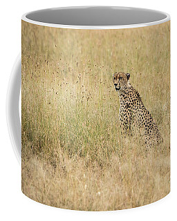 Cheetah In The Savannah Coffee Mug