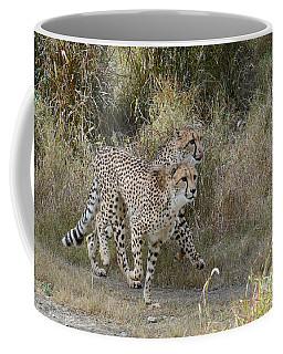 Coffee Mug featuring the photograph Cheetah Trot by Fraida Gutovich