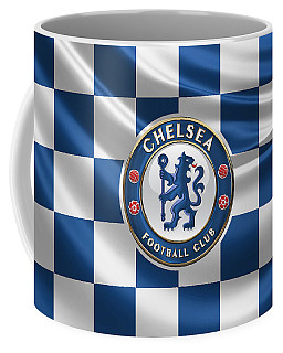 Chelsea F C - 3 D Badge Over Flag Coffee Mug