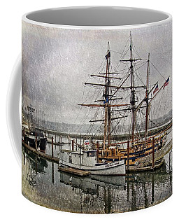 Chelsea Rose And Tall Ships Coffee Mug