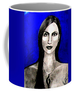 Coffee Mug featuring the drawing Chelu by Michelle Dallocchio