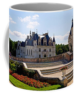 Chenonceau Garden Steps Coffee Mug by Eric Tressler