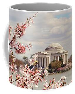 Cherry Blossom And Jefferson Coffee Mug by Rima Biswas