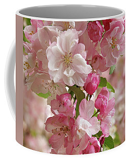 Coffee Mug featuring the photograph Cherry Blossom Closeup Vertical by Gill Billington