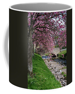 Coffee Mug featuring the photograph Cherry Blossom In Central Scotland by Jeremy Lavender Photography