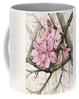 Blooming Tree Paintings Coffee Mugs