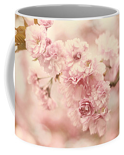 Coffee Mug featuring the photograph Cherry Blossom Petals by Jessica Jenney