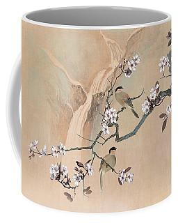 Cherry Blossom Tree And Two Birds Coffee Mug