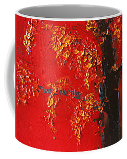 Cherry Blossom Tree - Red Yellow Coffee Mug