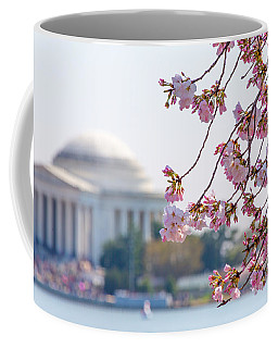 Cherry Blossoms And Jefferson Memorial Coffee Mug