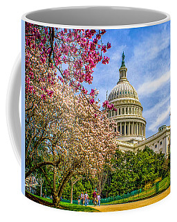 Cherry Blossoms At The Capitol Coffee Mug