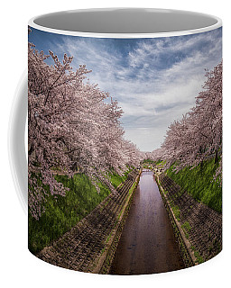 Coffee Mug featuring the photograph Cherry Blossoms In Nara by Rikk Flohr
