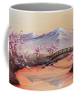 Cherry Blossoms In The Mist - Revisited Coffee Mug