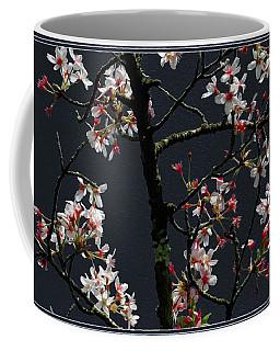 Cherry Blossoms On Dark Bkgrd Coffee Mug