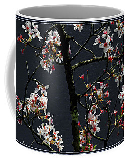 Cherry Blossoms On Dark Bkgrd Coffee Mug