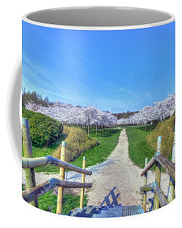 Cherry Blossoms Park Coffee Mug