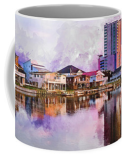 Cherry Grove Skyline - Digital Watercolor Coffee Mug