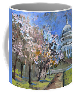 Cherry Tree Blossoms In Washington Dc Coffee Mug