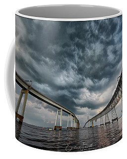 Chesapeake Bay Bridge Storm Coffee Mug