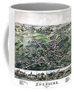 Cheshire Connecticut 1882 Map Coffee Mug