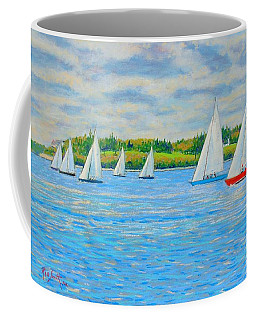 Chester Races Off Freda's Peninsula Coffee Mug by Rae  Smith PAC