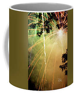 Coffee Mug featuring the photograph Chetola Yellow Fireworks by Meta Gatschenberger