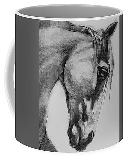 Cheval Horse Classic Graphite Charcoal Drawing Coffee Mug