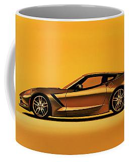 Chevrolet Corvette Stingray 2013 Painting Coffee Mug