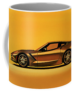 Chevrolet Corvette Stingray 2013 Painting Coffee Mug