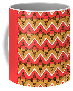 Chevron And Triangles Coffee Mug